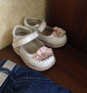Туфли Капика, джинсы и жакет