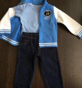 Пакет вещей на мальчика 1-1,5 года 4 комплекта