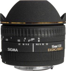 Обьектив Sigma 15mm 2.8 для Canon