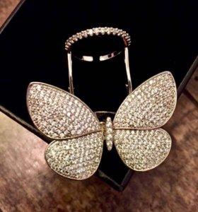 Кольцо «Бабочка» новое