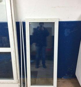 Продам балконную дверь размер и глухое окно