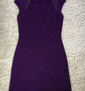 Платье фиолетовое трикотаж
