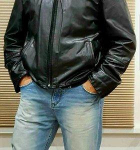 Куртка кожанная мужская.