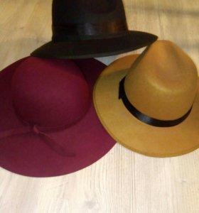 Шляпа новая бордо,черный,рыжий цвета