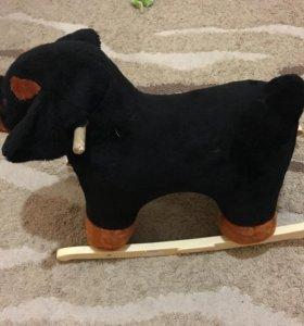 Игрушка-Кочалка собака