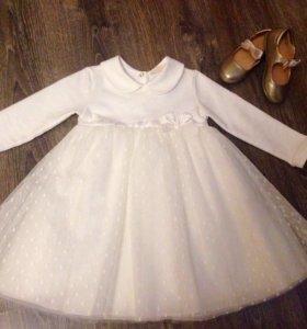 Белое, пышное платье Войчик