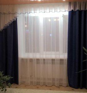 шторы+тюль