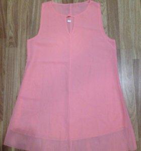 Платье персиковое новое