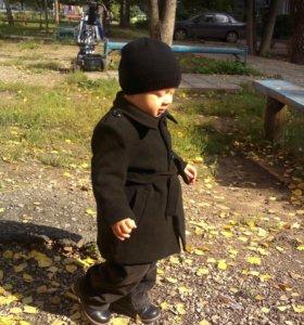 Детское пальто +штаны из микровельвета