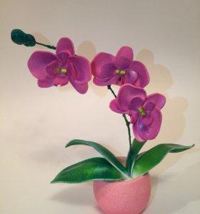 Цветок декоративный в горшочке