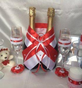 Свадебный набор красный