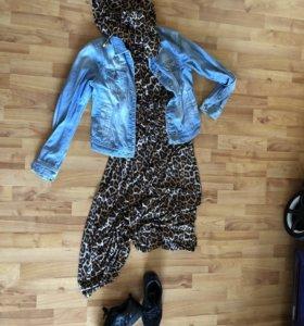 Платье в пол с капюшоном