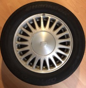 Литые диски с резиной R15 5x114.3 6.5JJ ET50 4 шт