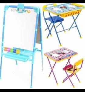 Детские столы, мольберты