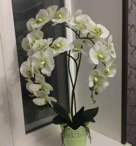 Имитация, искусственная белая орхидея 🌿💚