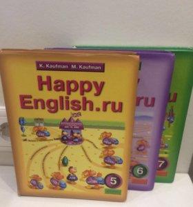 Учебник по английскому Happy English. 5,6,7 класс
