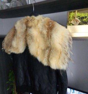 Кожаная куртка с мехом.