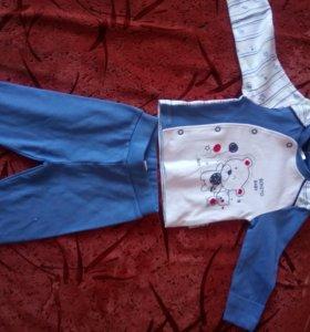 Распашенка и ползунки, костюм для мальчика