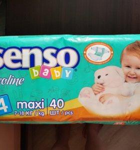 Подгузники Senso Baby 4 (7-18 кг) 40 шт