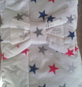 Одеяло с бантом на резинке