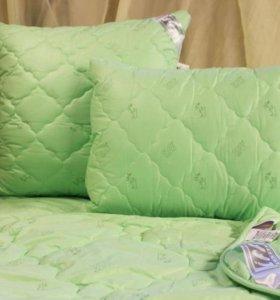новые бамбуковые подушки и одеяла