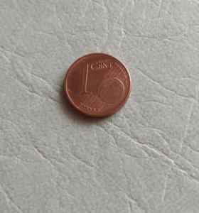 1 евро цент 2012 года G