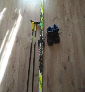 Комплект лыжи+ботинки+палки