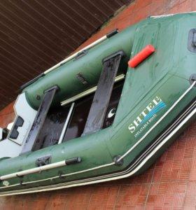 2х местная лодка shtel+2х тактный мотор HDX 5