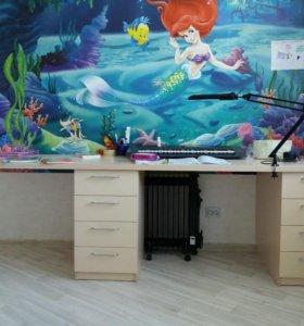 Стол письменный для 2-х детей