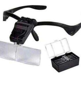 Лупа налобная (очки) MG9892B