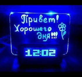 Часы будильник с LED-доской