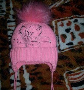шапочка зимняя для девочки