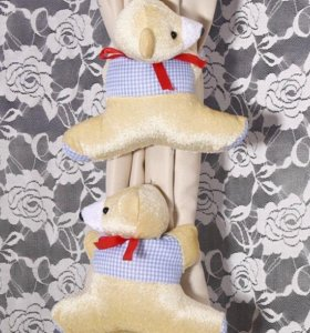Медвежата и цветы детские аксессуары для штор