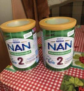 Nan кисломолочная смесь 2