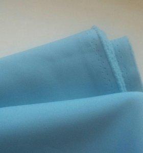 Новая ткань голубая
