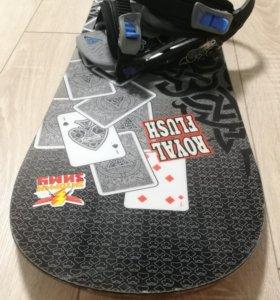 Сноуборд Black Fire Royal Flush +крепления ботинки