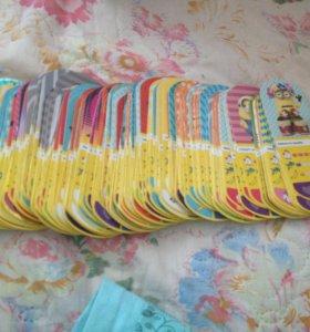 Карточки миньонов( гадкий я 3)