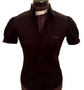 Черная рубашка Pinko с коротким рукавом