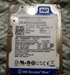 Жесткий диск WD 500GB