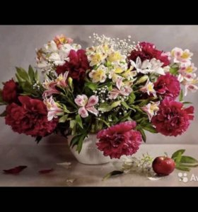 Алмазная вышивка мозаика Цветы