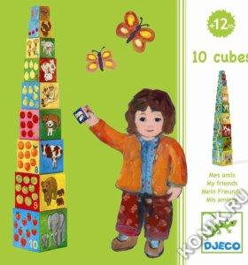 Кубики-пирамида Мои друзья Djeco