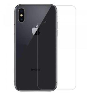 Защитное стекло для iPhone X на заднюю панель