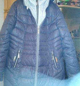 Зимняя куртка- полупальто 52 р бу в хорошем сост