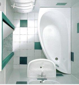 Ванна акриловая левосторонняя