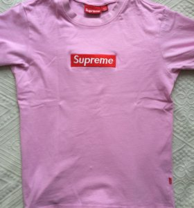 Supreme box logo t shirt pink