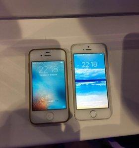 Продам 2 телефона (Iphone 4 и Iphone 5)