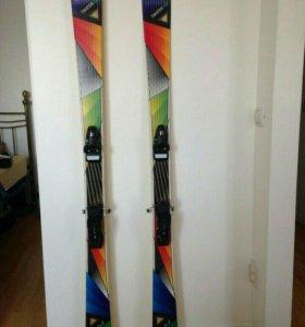 Горные лыжи с креплением stuf twister 166 twin-tip