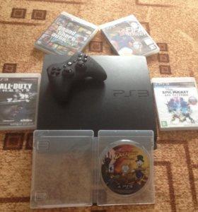PlayStation3- 320гб +5 игр