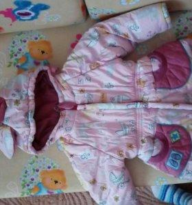 Детский зимний комбинезон и курточка
