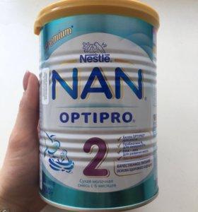 Сухая молочная смесь Nan Optipro 2 с 6 месяцев